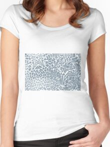 leopard fur Women's Fitted Scoop T-Shirt