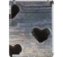 wooden background whit heart iPad Case/Skin