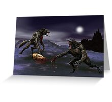 Werewolf Fight Greeting Card
