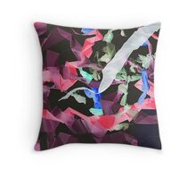 colorful kites flying in the sky Throw Pillow