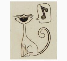 white cat singing One Piece - Long Sleeve