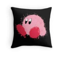 Kirby Splatter ~ ☆ Throw Pillow
