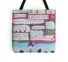 Positivity Girl Doodle Tote Bag