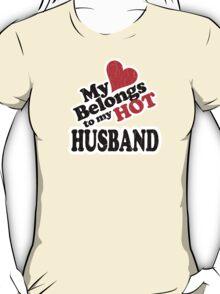 My Heart Belongs to My HOT Husband! (vintage look) T-Shirt