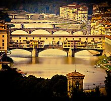 Ponte Vecchio Over The Arno River In Florence, Italy by Kana Photography