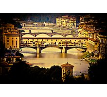 Ponte Vecchio Over The Arno River In Florence, Italy Photographic Print
