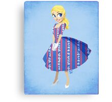 Girl of Liberty Canvas Print
