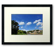 Blue skies over Clifton Suspension Bridge Framed Print