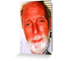 PORTRAIT OF THE ARTIST AS AN OLD MAN. Greeting Card