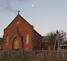 Sacred Heart Church, dusk at Hill End by DashTravels