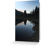 Mountain Reflections #1 Greeting Card