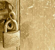 Sepia No Entry by Tracey Hawkes 'Visual Artist'