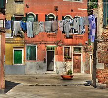 Washing Day in Venice by Luke Griffin