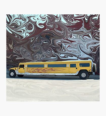 Hummer Stretch Limo Photographic Print