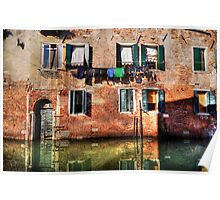 Venice washing #1 Poster