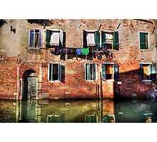 Venice washing #1 Photographic Print