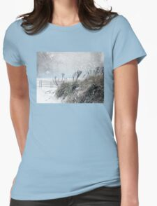 Snowy Skies Womens Fitted T-Shirt
