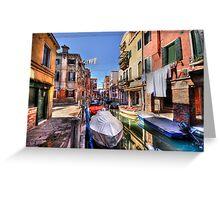 Venice washing #3 Greeting Card