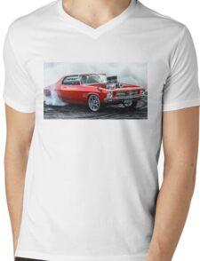 MRBADQ Burnout Mens V-Neck T-Shirt