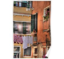 Venice washing #8 Poster