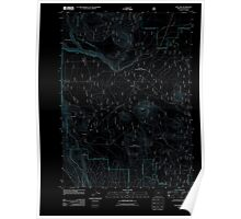 USGS Topo Map Oregon Sun Pass 20110719 TM Inverted Poster