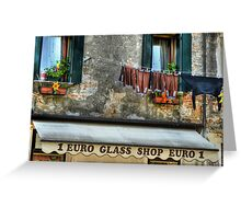 Venice washing #11 Greeting Card