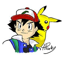 Ash and Pikachu by APParky