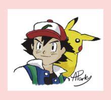 Ash and Pikachu Kids Tee