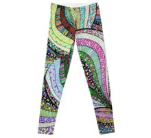 love colourful pattern illustration Leggings