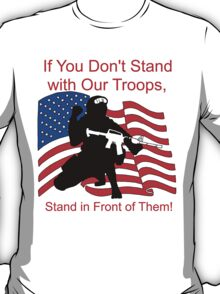 American Flag- Support our Troops T-Shirt
