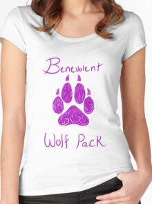 Benevolent Wolf Pack Pink Women's Fitted Scoop T-Shirt
