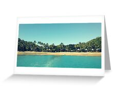 Tropical Resort Greeting Card