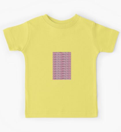 buildings on distance hand made pattern Kids Tee