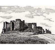 187 - BAMBURGH CASTLE - DAVE EDWARDS - INK - 1991 Photographic Print
