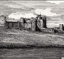 189 - ALNWICK CASTLE - DAVE EDWARDS - INK - 1991 by BLYTHART
