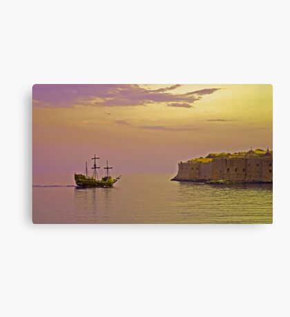 Pirates in Dubrovnik Canvas Print