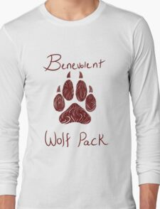 Benevolent Wolf Pack Red Long Sleeve T-Shirt