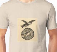 Planet music bird retro illustration Unisex T-Shirt