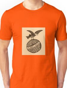 Planet music bird retro illustration Unisex T-Shirt
