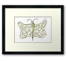 worm with wings Framed Print