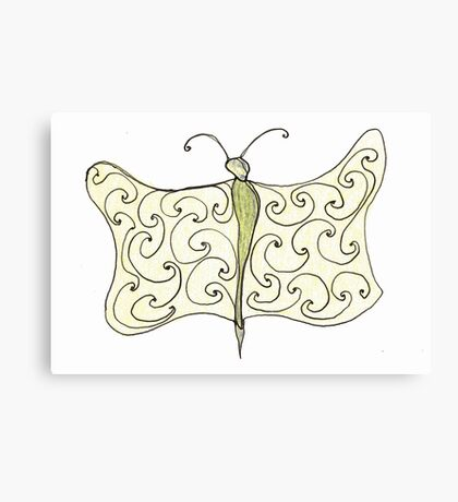 worm with wings Canvas Print