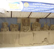 Alice in wonderland sand sculptures by brucemlong