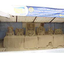 Alice in wonderland sand sculptures Photographic Print