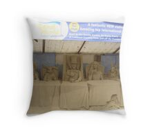 Alice in wonderland sand sculptures Throw Pillow