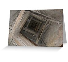 Bell tower staircase Greeting Card