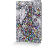 The Sculptor and The Rainbow Greeting Card