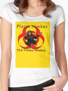 Plague Monkey - Funky Women's Fitted Scoop T-Shirt