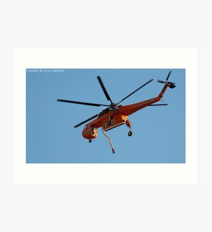 Skycrane To The Rescue Art Print