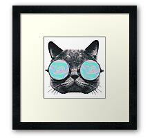 Cat Eye Hologram Framed Print