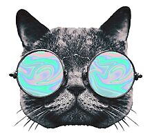 Cat Eye Hologram Photographic Print